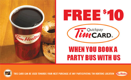 Tim Hortons Gift Card for Party Bus